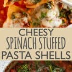 Cheesy Stuffed Shells Pinterest Pin