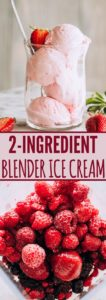 Pinterest Pin for Blender Ice Cream