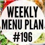 Weekly Menu Plan 196 Pin