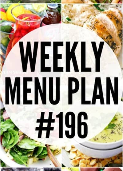 Weekly Menu Plan 196 Pin