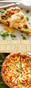 Cauliflower Crust Breakfast Quiche Pin Image