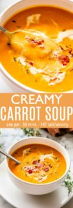 Carrot Soup Pin image