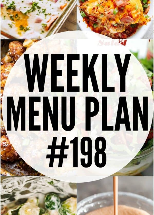 WEEKLY MENU PLAN 198 PIN IMAGE