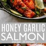 Honey Garlic Sauce Salmon pinterest image