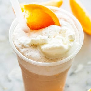 Creamsicle Ice Cream Soda in a cup.