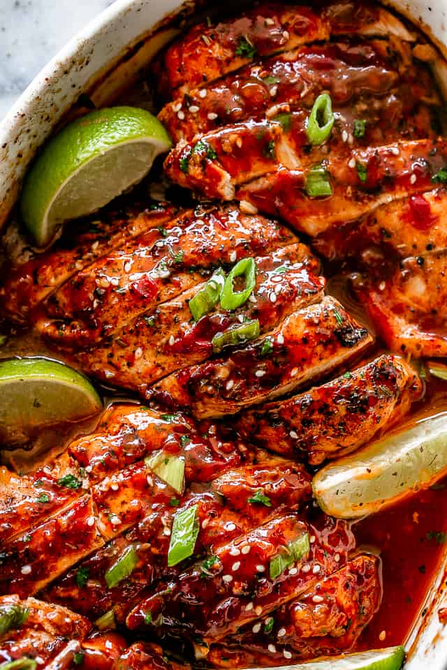 Honey Sriracha Chicken Breasts