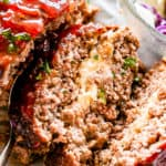 Mozzarella Stuffed Crockpot Meatloaf