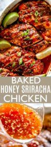 Baked Honey Sriracha Chicken Pin Image