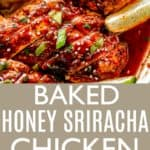 Baked Honey Sriracha Chicken Pin Image