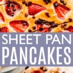 Sheet Pan Pancakes Pin Image