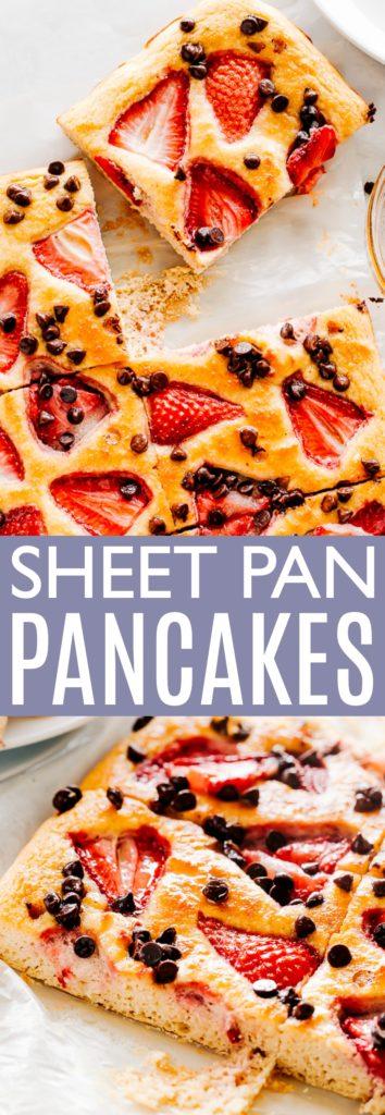 Sheet Pan Pancakes Pin Image