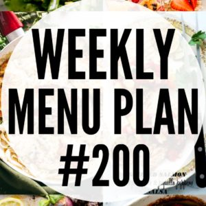 Weekly Menu Plan 200 Pin Image