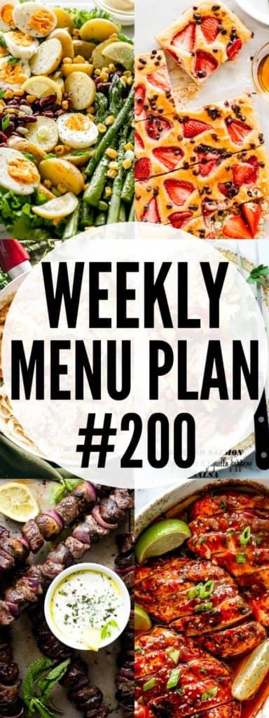 Weekly Menu Plan 200 Pin Image