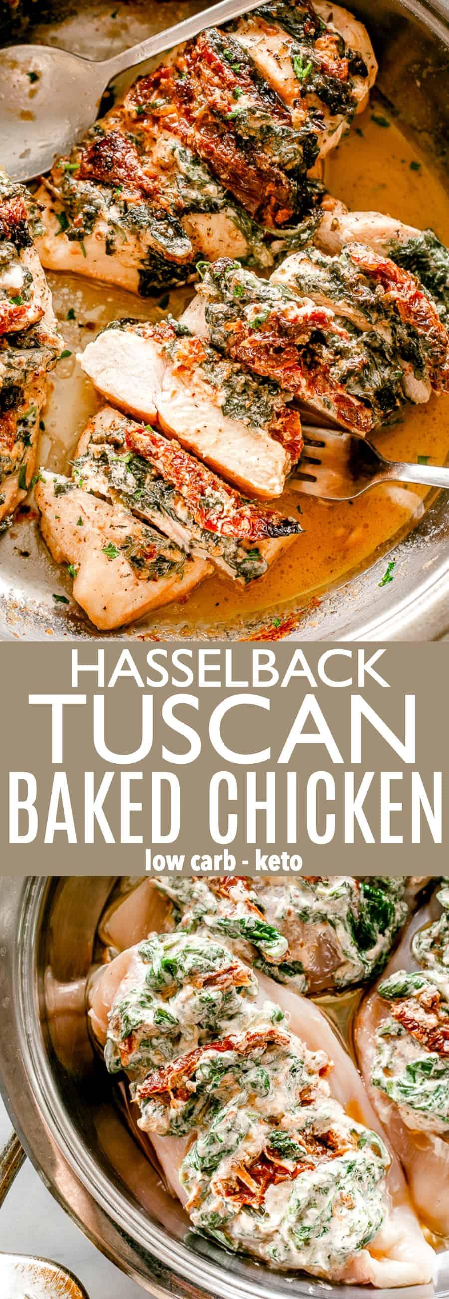 Tuscan Baked Chicken Pin Image