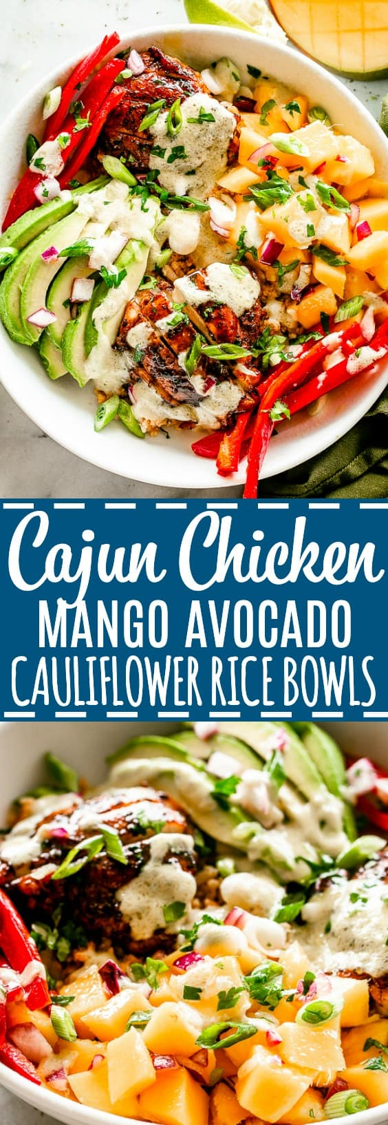 Chicken Cauliflower Rice Bowls Pin Image