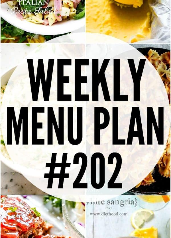 Weekly Menu Plan 202 Pin Image