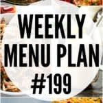 Weekly Menu Plan Pin Image