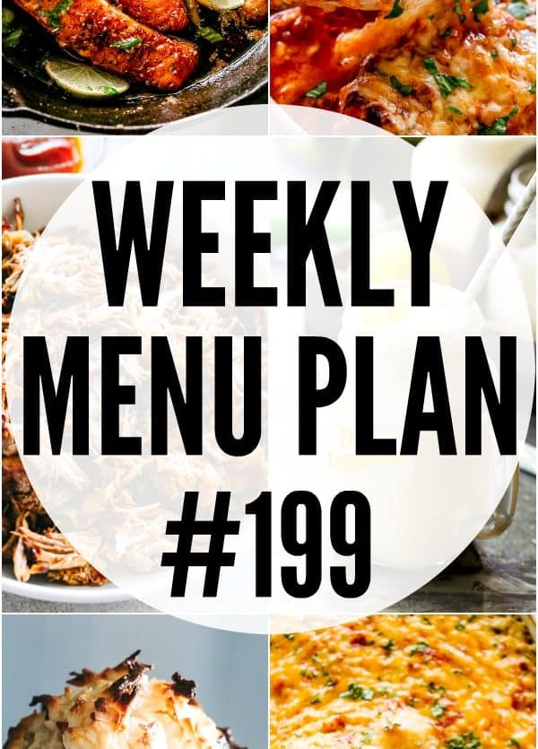 Weekly Menu Plan Pin Image