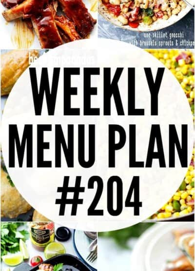 WEEKLY MENU PLAN 204 IMAGE