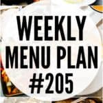 WEEKLY MENU PLAN (#205)