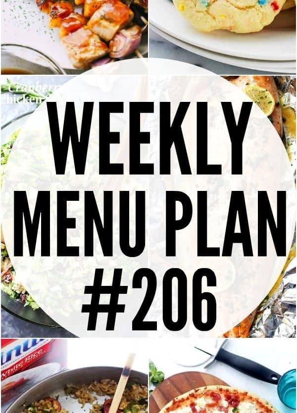 Weekly Menu Plan 206 Pin image
