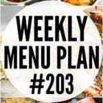 WEEKLY MENU PLAN (#203)