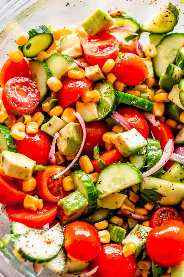Tomato Avocado Corn Salad
