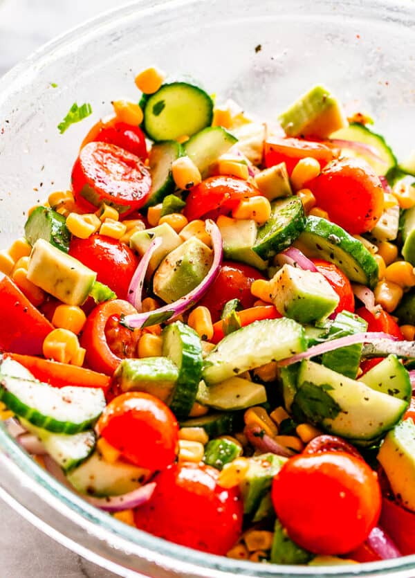 Corn Salad with Lime Cumin Vinaigrette
