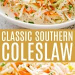 southern coleslaw pin image