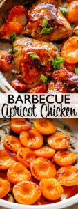 Apricot Chicken with Barbecue Sauce Pin Image