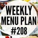 WEEKLY MENU PLAN 208 PIN IMAGE