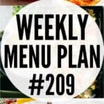 WEEKLY MENU PLAN (#209)