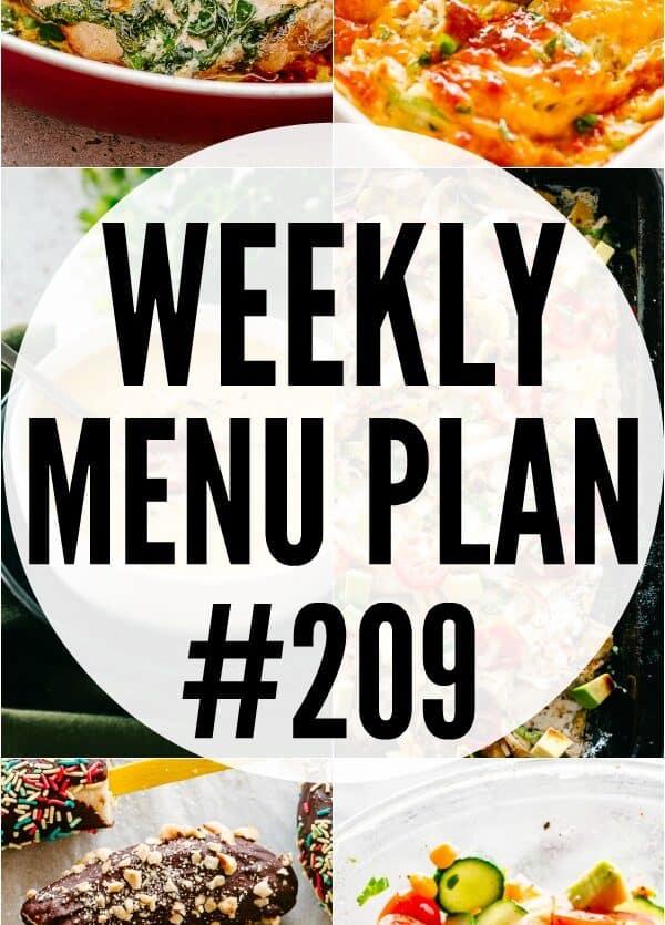 WEEKLY MENU PLAN 209 PIN IMAGE