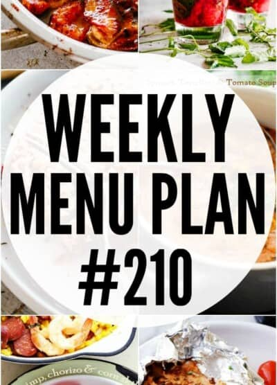 WEEKLY MENU PLAN 210 PIN IMAGE