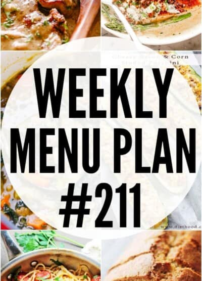 WEEKLY MENU PLAN #211 PIN IMAGE