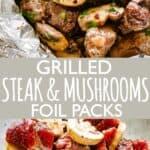 Steak Mushrooms Foil Packs pin image