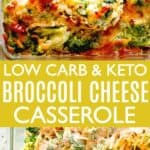 Broccoli Cheese Casserole Pin Image