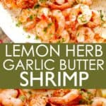 LEMON HERB GARLIC BUTTER SHRIMP PIN IMAGE