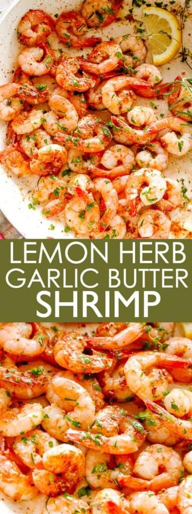 LEMON HERB GARLIC BUTTER SHRIMP PIN IMAGE