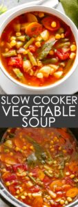 VEGETABLE SOUP IN THE SLOW COOKER PIN IMAGE