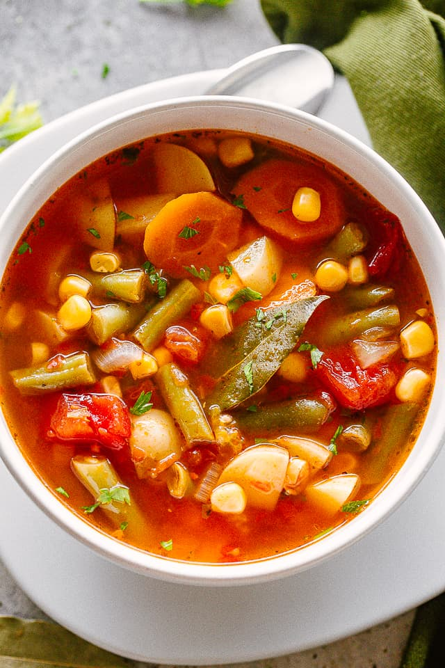 Slow Cooker Vegetable Soup Diethood