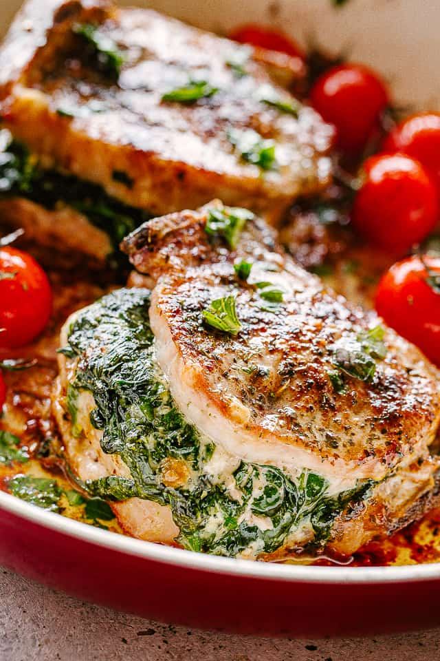 Stuffed pork chops.