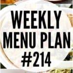 WEEKLY MENU PLAN (#214)