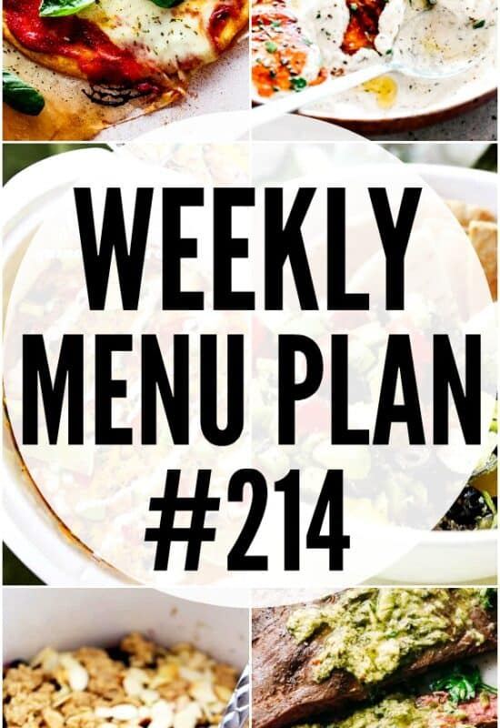 WEEKLY MENU PLAN #214 PIN IMAGE