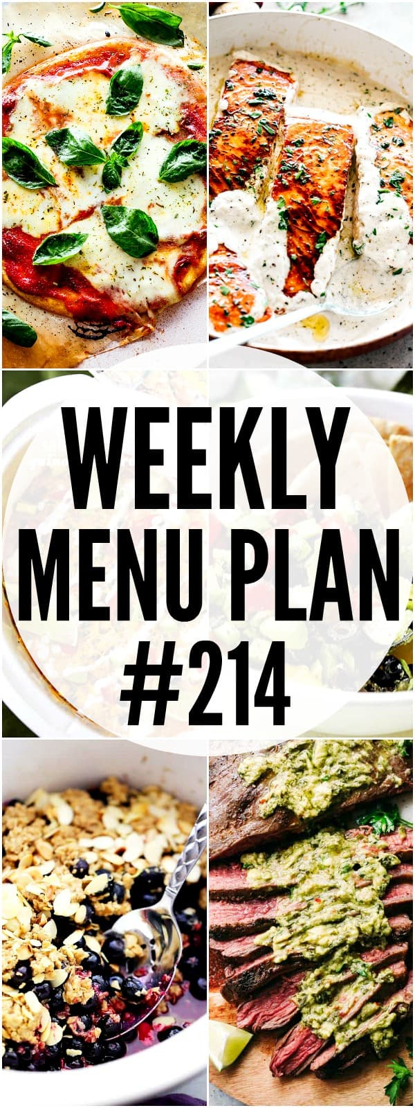 WEEKLY MENU PLAN #214 PIN IMAGE