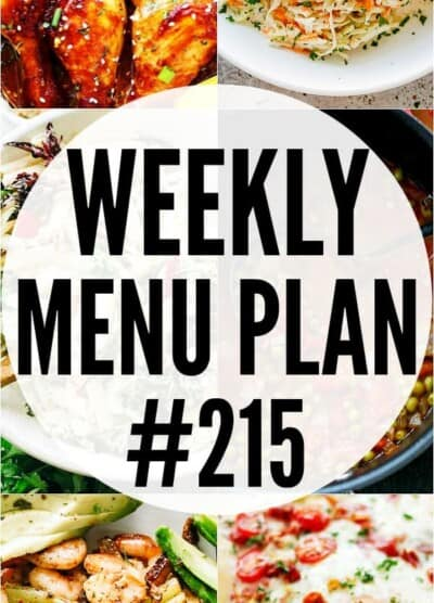 WEEKLY MENU PLAN #215 PIN IMAGE