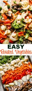 OVEN ROASTED VEGETABLES PIN IMAGE