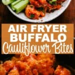 Air Fryer Buffalo Cauliflower Bites Pin Image