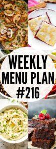 WEEKLY MENU PLAN #216 PIN IMAGE