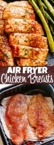 Air Fryer Chicken Breasts Pin Image